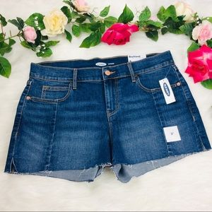 Old Navy Boyfriend Shorts Size 8 Cutt-Off Denim